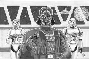 Darth Vader and his posse by shinlyle