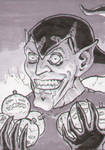Green Goblin Sketch Card Grays