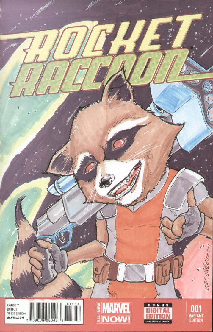 Rocket Raccoon sketch cover by shinlyle on DeviantArt