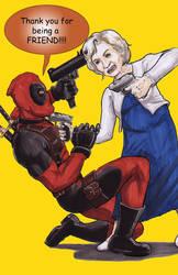 Deadpool vs. Betty White by shinlyle