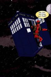 Deadpool Tardis by shinlyle