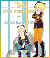 TDA Ponpoko Miku + Konkon Rin DL by kreifish