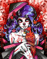 Cardinal Sugarskull Lady by TheLadyJ