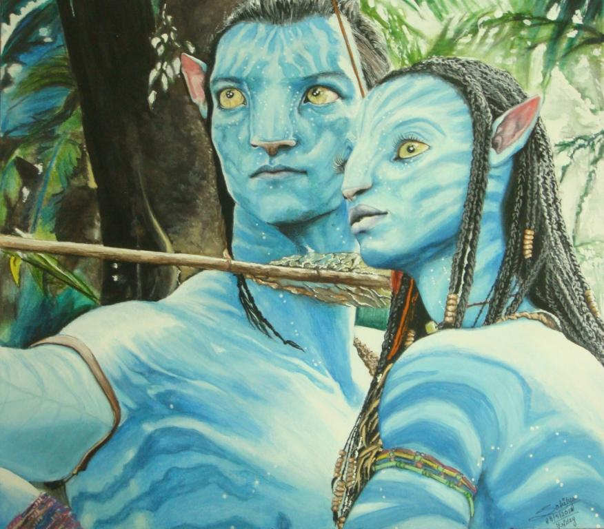 Avatar- Jake and Neytiri by sahitya