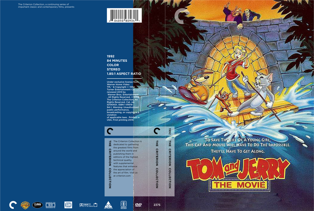 tom and jerry the movie custom criterion dvd cover by x