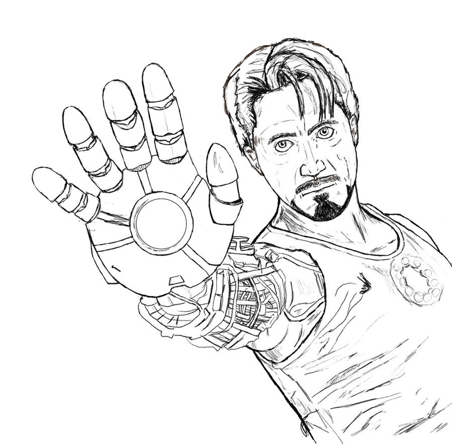tony stark coloring pages tony stark free colouring pages