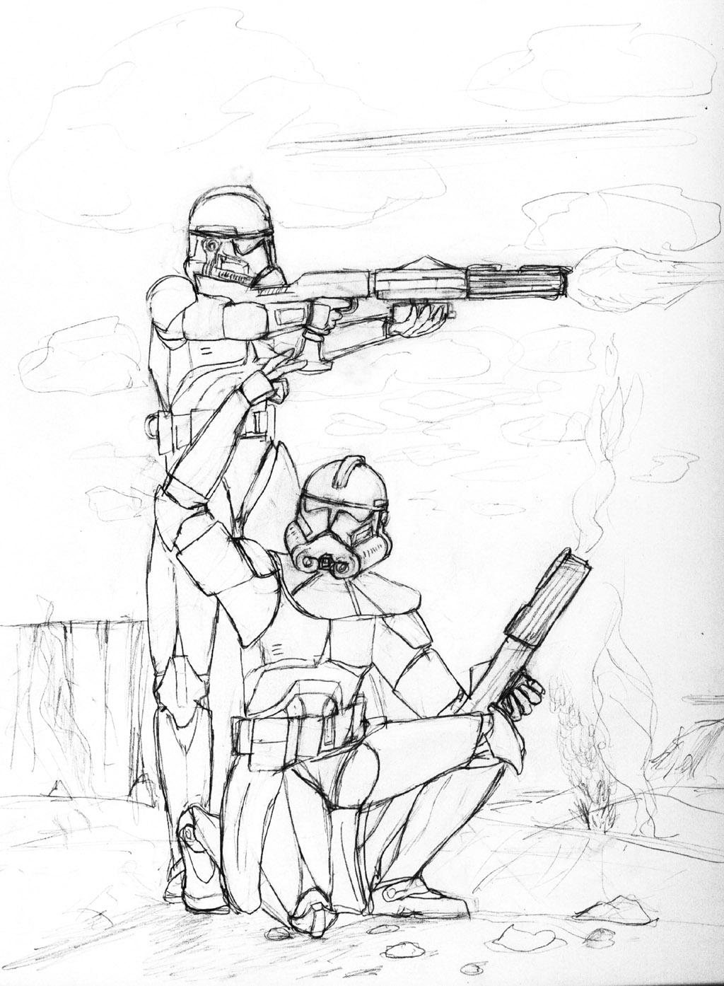 Clone troopers by ahunterinsilence on DeviantArt