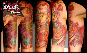 Candy tattoo by BPS-TATTOO