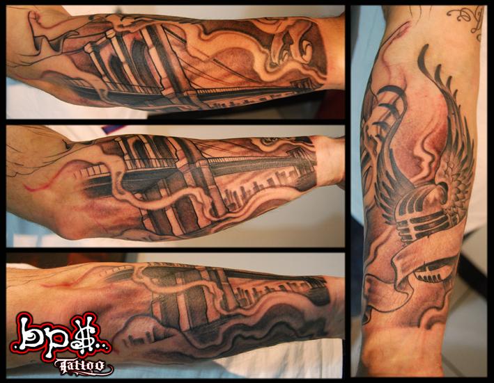 Brooklyn bridge by bps tattoo on deviantart for Best tattoo artists in brooklyn