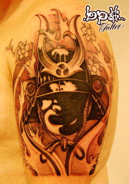 samurai helmet by bps tattoo on deviantart. Black Bedroom Furniture Sets. Home Design Ideas