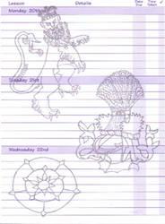 Heraldric Lion, Helm and Rose by Rynewulf