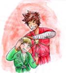 Ninjago - Kai and Lloyd