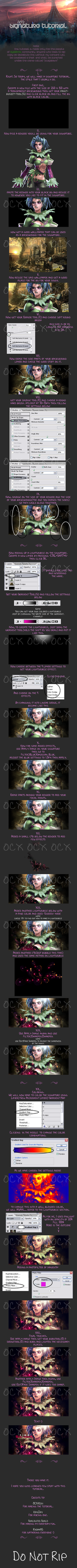 Tira Signature Tutorial by freak--y