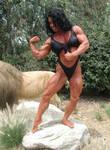 Debbie Bramwell Defeats Lion 1