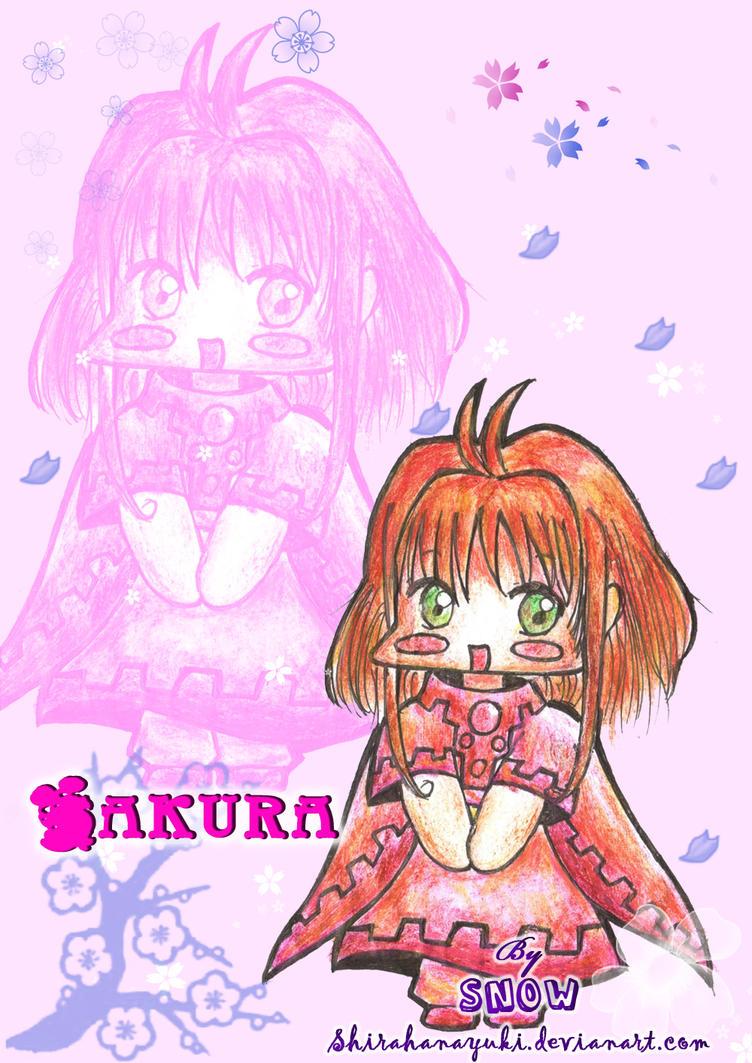 Sakura chibi by Shirahanayuki