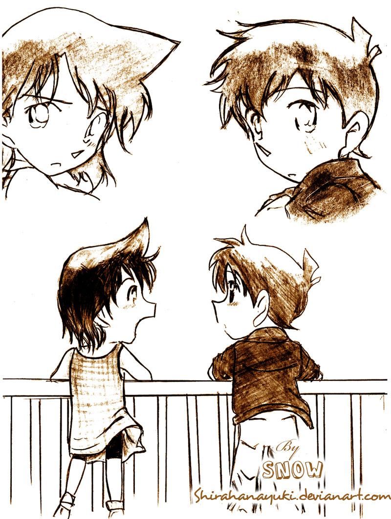 [Non-Conan fanart] by Snow Shinichi_Ran__Sweet_memory____by_Shirahanayuki