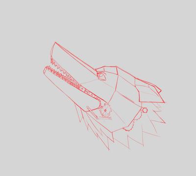 Mechanical Wolf Sketch by joshbalaski