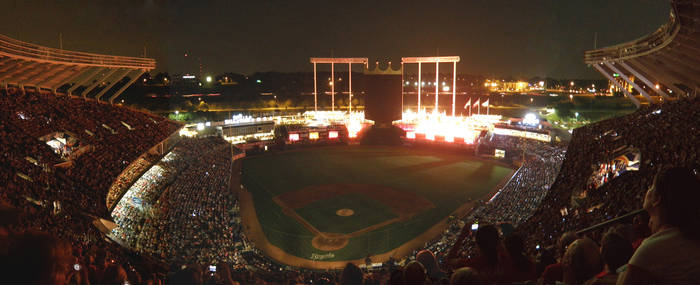 Night at Kauffman Stadium