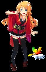 Kimono Girl Render 3 by L-Renders