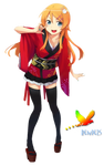 Kimono Girl Render 3
