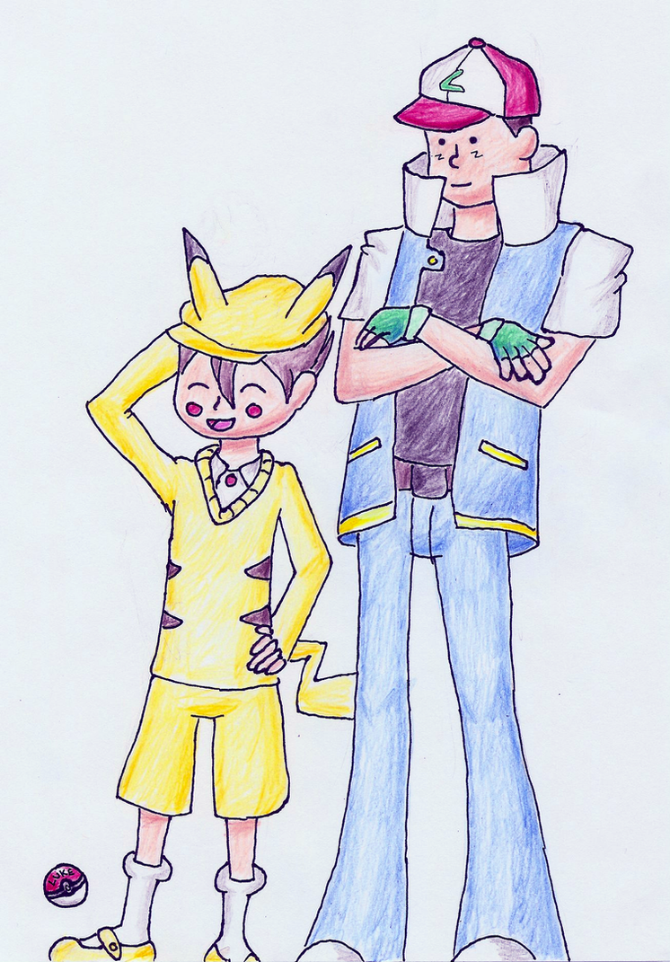 Pikachu And Ash Ketchum...? By Grovyle-n-wolfluvr On