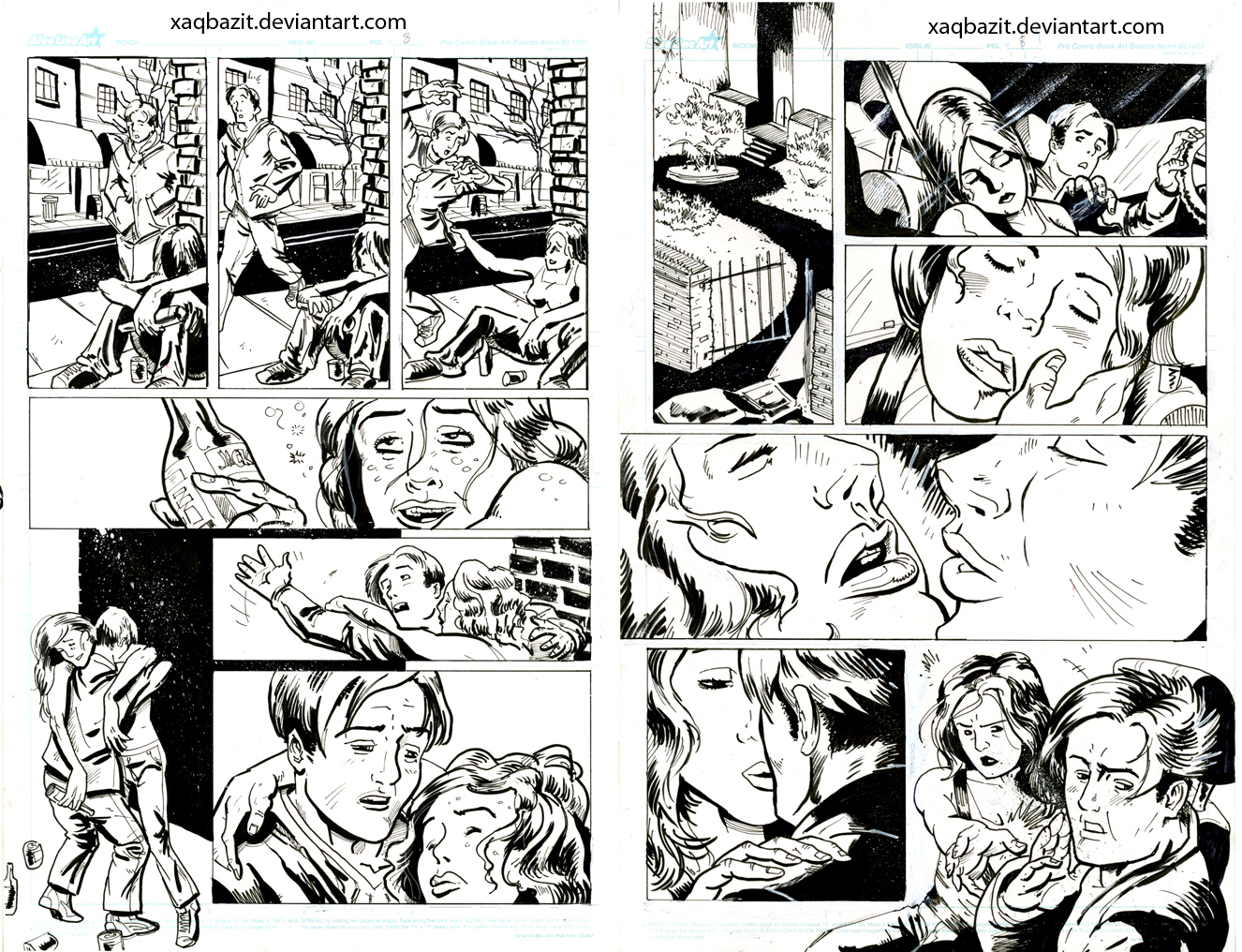 Maelstrom iss.2 pgs 7,8 inks by xaqBazit