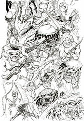 Predator vs. Tarzan by xaqBazit