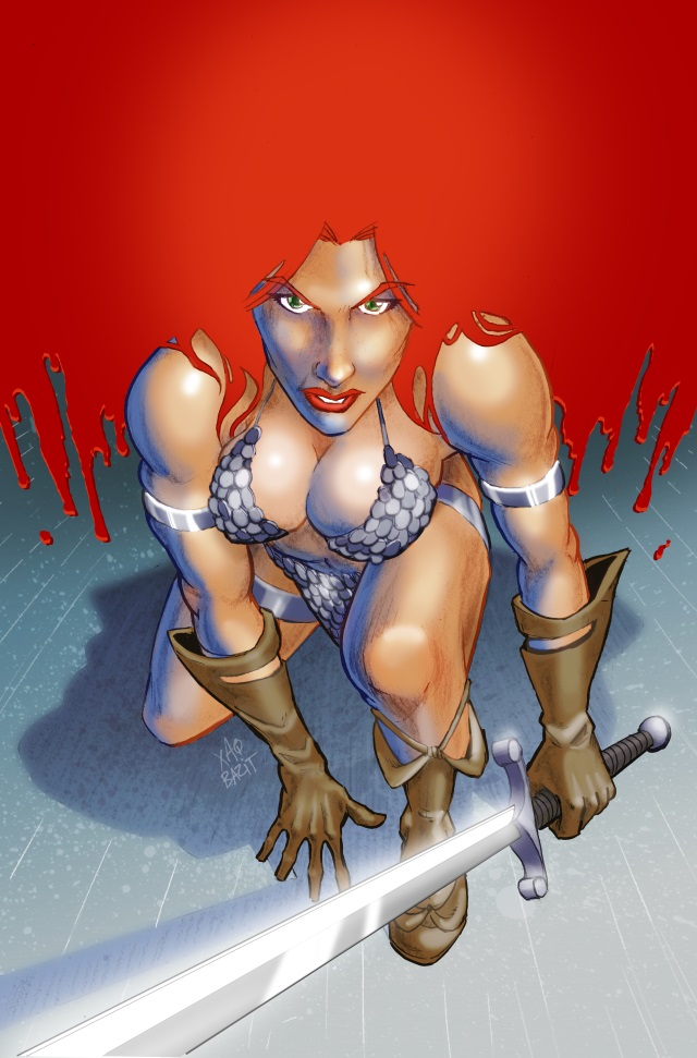 Red Sonja Cover Entry by xaqBazit
