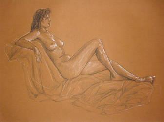 Girl Laying by xaqBazit