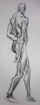 Man Holding Arm by xaqBazit
