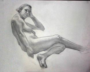 all class reclining female by xaqBazit