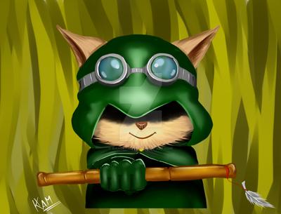 Comission: Teemo Green Hood by KamSethdrid