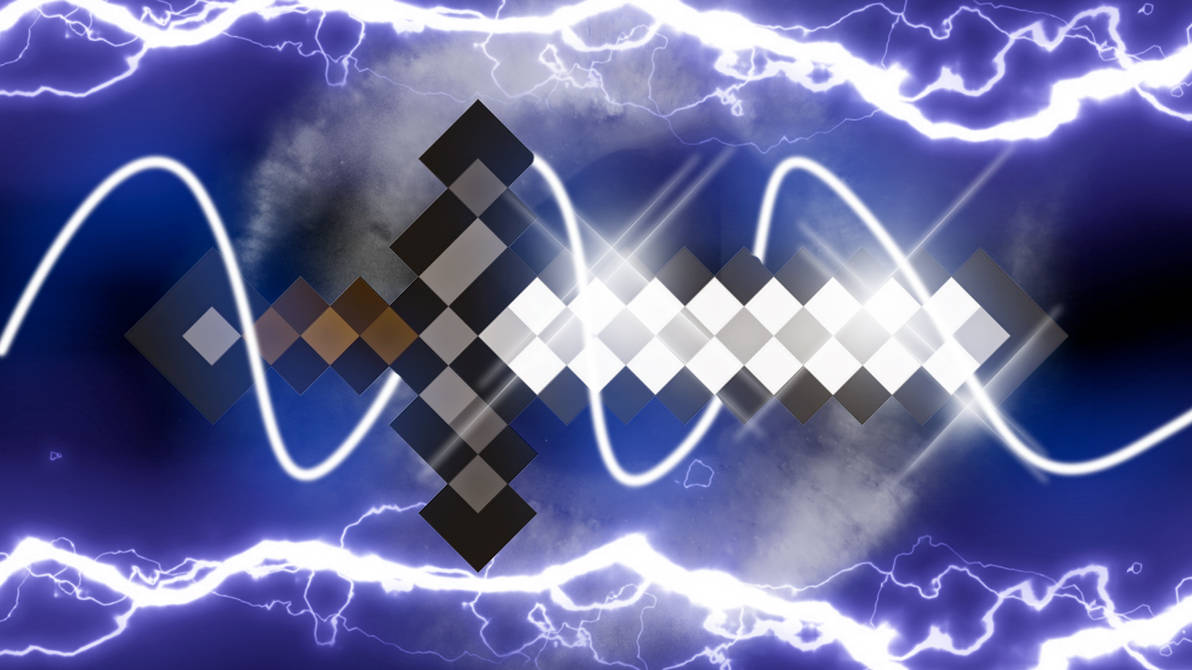 Minecraft Wallpaper Iron Sword by GlacialWolf23 on DeviantArt