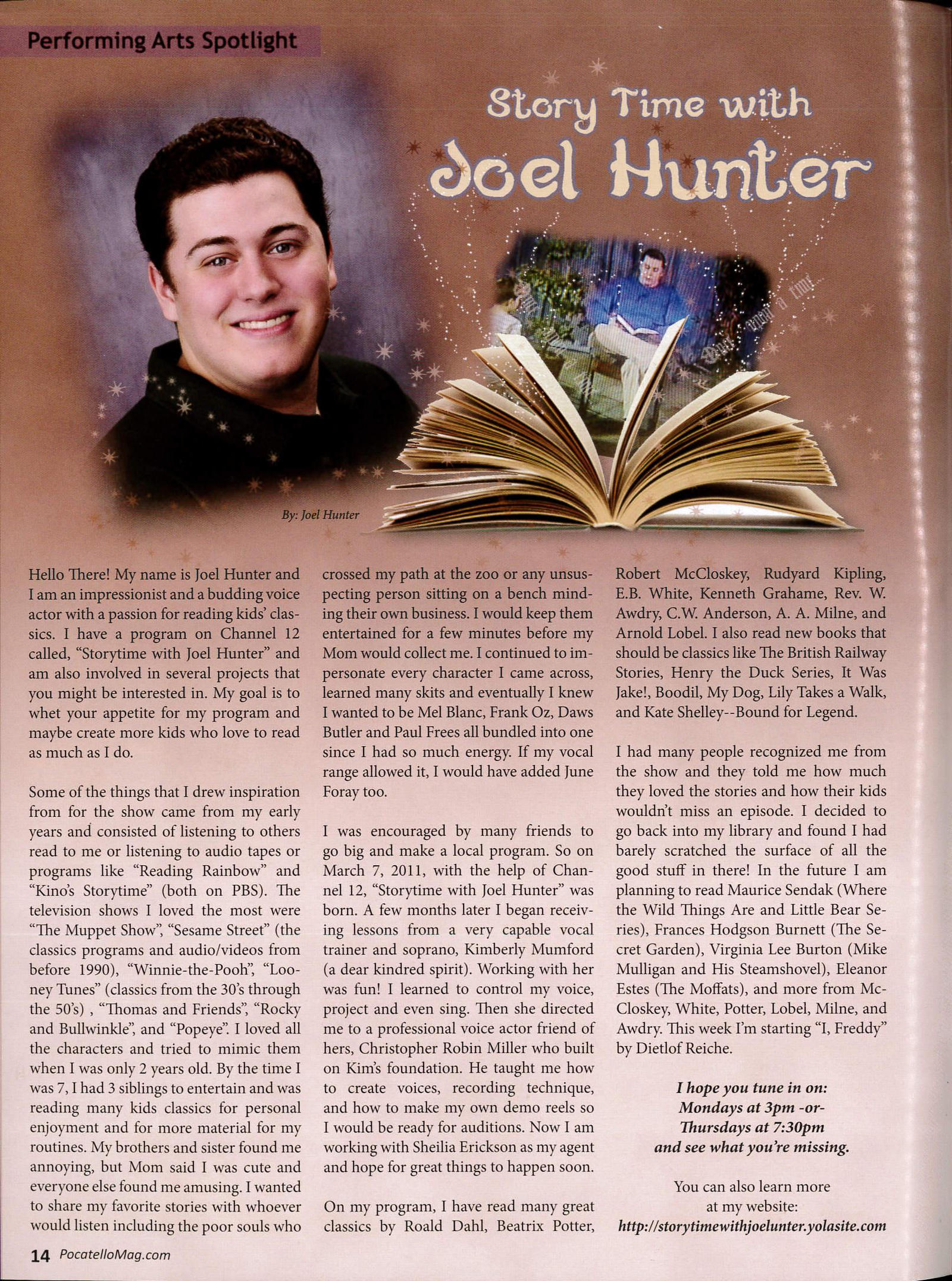 Storytime with Joel Hunter Article