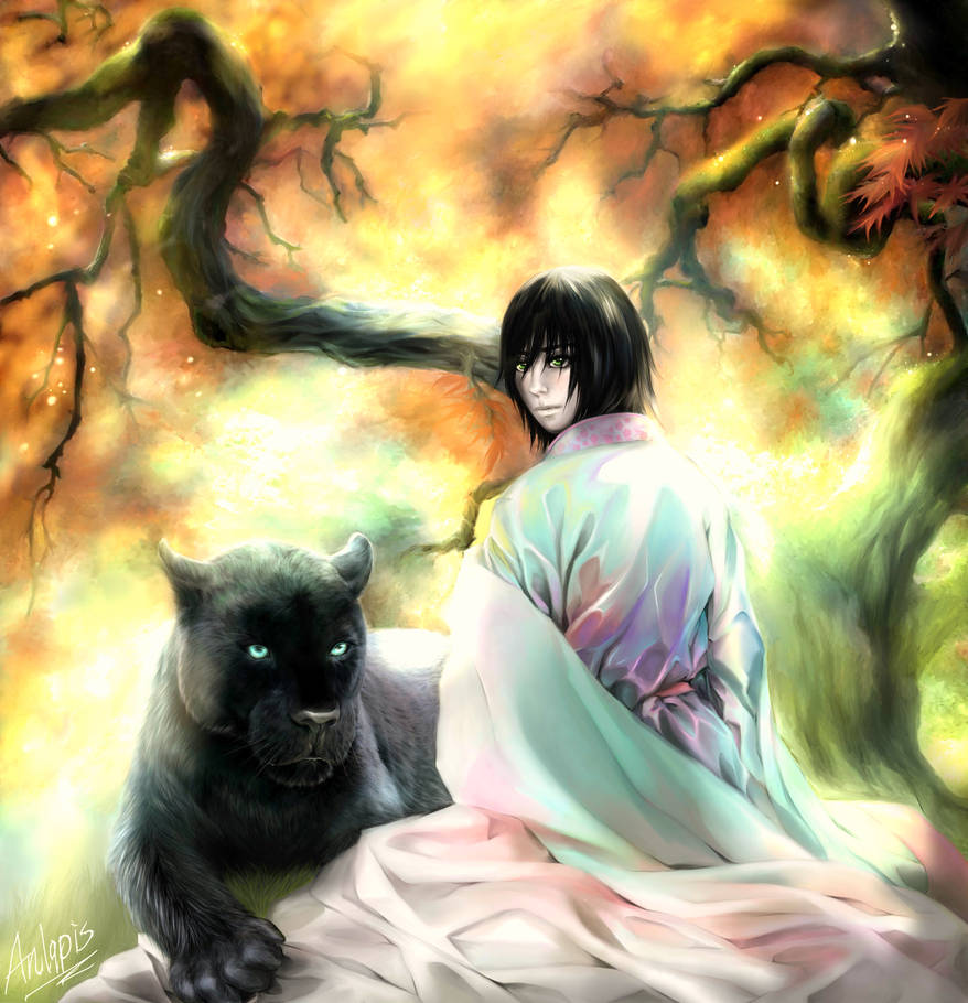 Ulquiorra and his panther by Anlapis