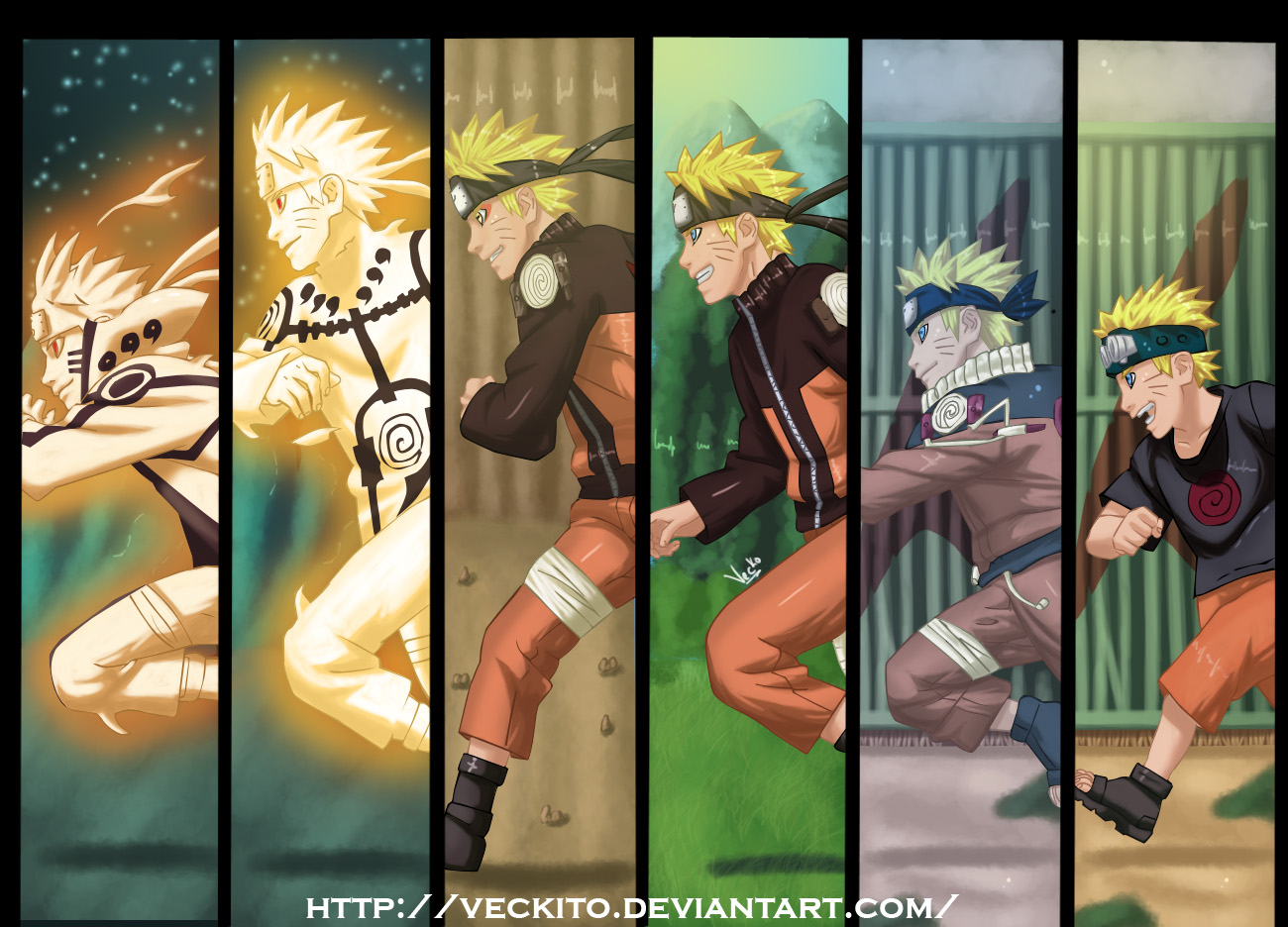 The growth of Naruto by Veckito