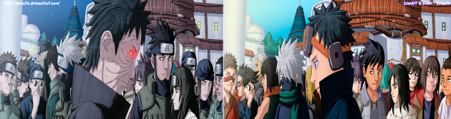 The past and present - Naruto Shippuden by Veckito