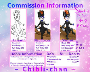Discounted! OPEN - Commission Infomation by Chibli-chan