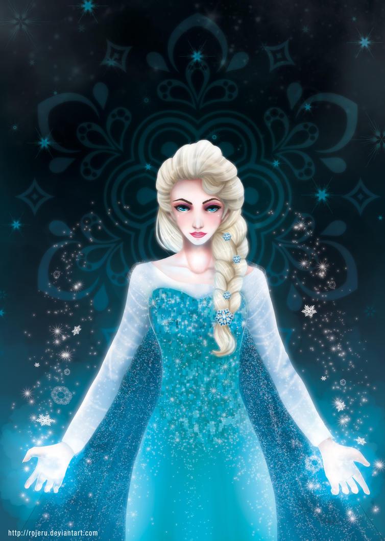 Elsa the Snow Queen by rojeru