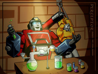 Commission - Evil Perceptor by WaywardInsecticon