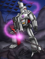 Megatron in a wasteland by WaywardInsecticon