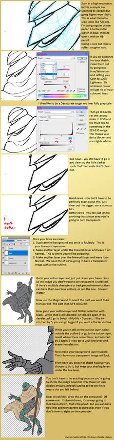 Tutorial: Tidying Your Hand-Drawn Lineart