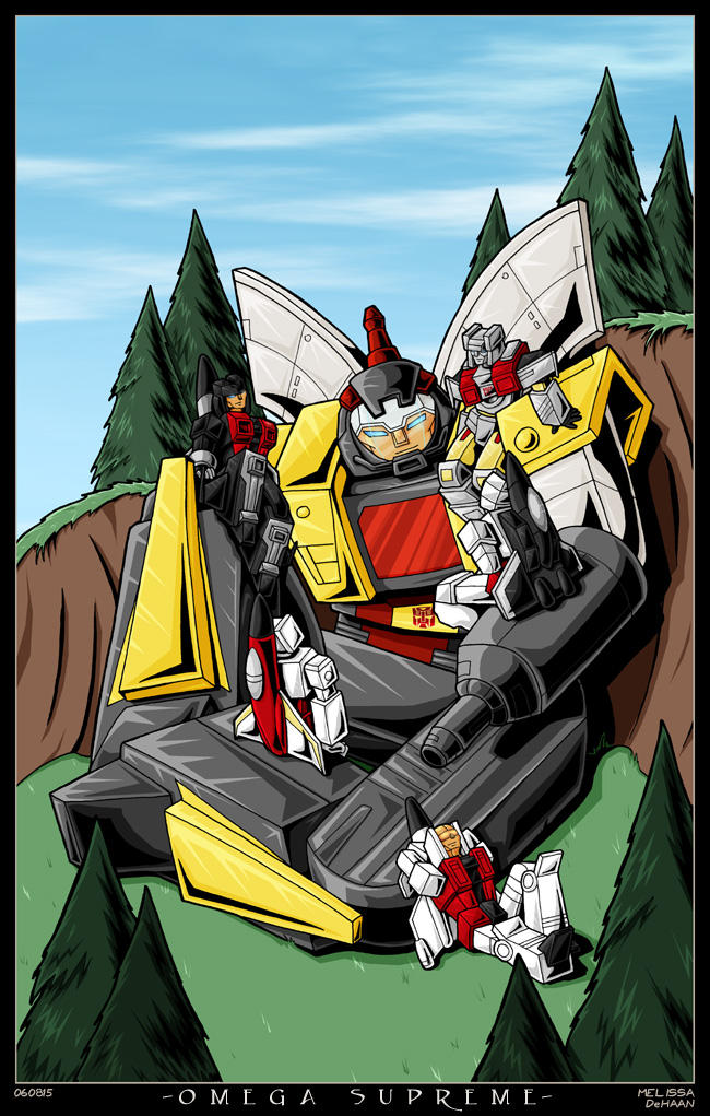 Omega Supreme and Aerialbots by WaywardInsecticon