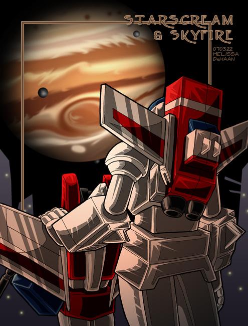 Starscream + Skyfire - Jupiter by WaywardInsecticon