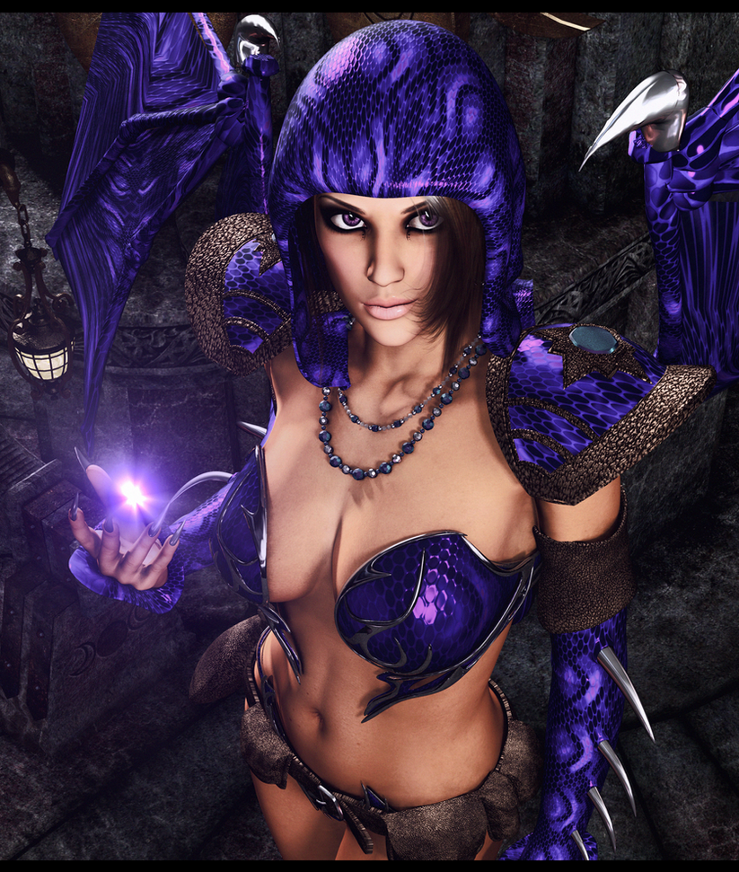Purple Dragon: From The Ashes Of Dragons ByFurbs3D by LadyDreamMaker