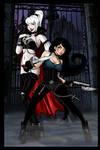 Svetlana Dracula and Naomi  Hunter Halloween 2015 by LadyDreamMaker