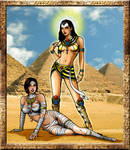 Mummy Alejandra and Goddess Omega Halloween 2016
