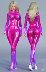 Samantha Zero Suit 3D Character Reference