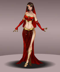 Red Dragon Outfit -Ruby Dragon Gem