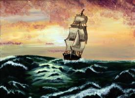 A Ship At Sea by Celebri-ian